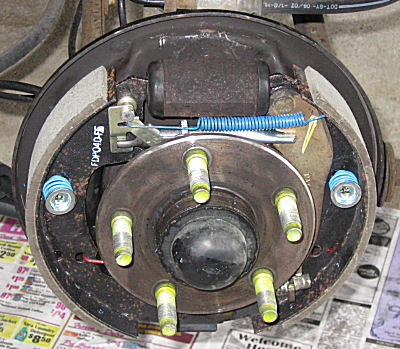 Ford       Taurus    and    Mercury       Sable    Brake Drum Removal  continued